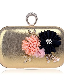Finger Ring Diamonds Flower Metal Day Clutches