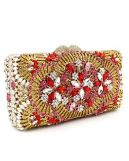 Luxury And Casual Hollow Crystal Clutch