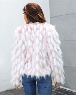 Plus Size Office Ladies Casual Street wear Teddy Coat