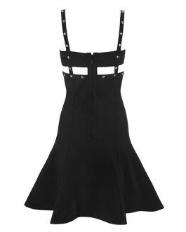 Sexy Hollow Out Rivet Bodycon Dress