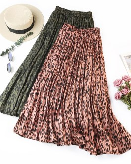 Leopard Printing Luxurious Long Skirt
