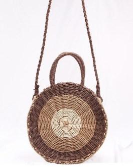 Fresh Rattan Woven Straw Rope Knitted Beach Bag