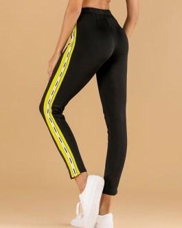Leggings For Women Comfortable Two Tone Polyester Leggings