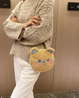 Delicate Texture Lovely Cute Bear Chain Shoulder Messenger Bag