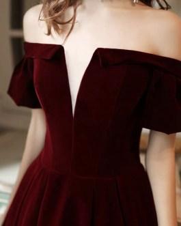 Evening A Line Off The Shoulder Short Sleeves Floor Length Laceup Pockets Formal Dinner Dresses