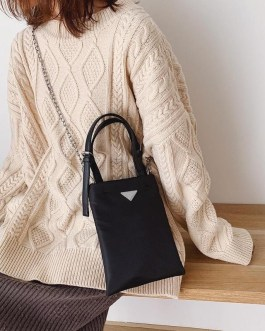 Daily Casual Oxford Cloth Cross body Shopping Totes Bag