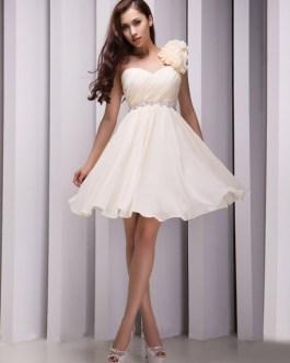 One-Shoulder Beading Chiffon Grace Bridesmaid Dress