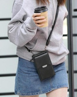 PU Leather Phone Purse Mini Shoulder Handbag for Hiking and Travel