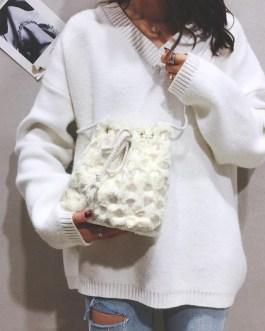 Fashion Love Heart Sequins Satchel Shoulder Handbag
