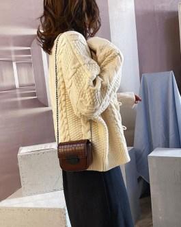 Retro PU Leather Chain Small Shoulder Messenger Bag