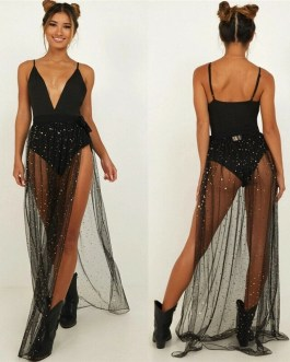 Sexy Bling Glitter Beach Cover Up Skirt