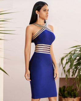 Sexy Hollow Out Bodycon Evening Runway Party Dress