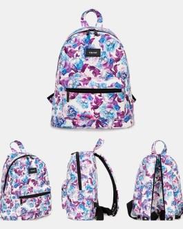 Casual Flower Printed Backpack Bag