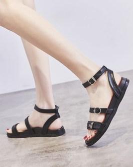 Chic Gladiator PU Sandals