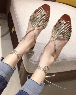Flat Chic Open Toe Sandals