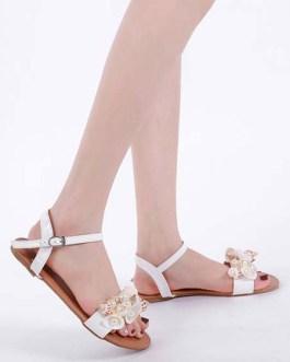 Flat Flowers Chic Open Toe Sandals