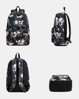 Floral Waterproof Casual Backpack School Bag