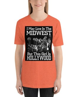 I May Live In The Midwest Deark Back Unisex Premium T-Shirt