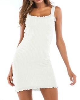Knitted Bodycon Sleeveless Sheath Dress