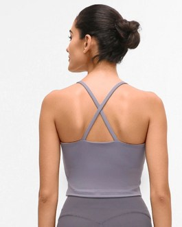 Sexy Plain Fitness Workout Crop Tops
