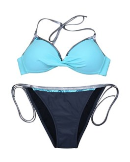 Spaghetti Straps Side Ties Two Piece Swimsuit