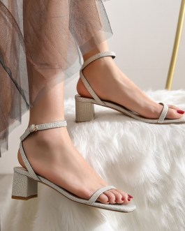 Ankle Strap Party Bling  High Heels Thick Sandals