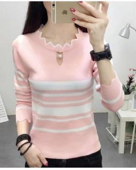 Beautiful Long Sleeve Striped Casual Top