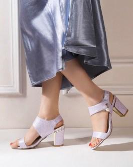 Block Heel Open Toe Sandals