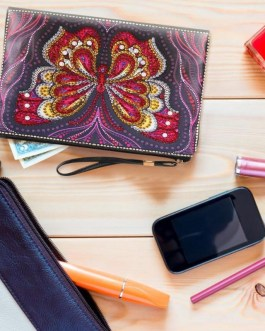 Clutch DIY Butterfly Special Shaped Diamond Painting Wristlet Wallet