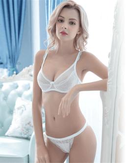 French high-end brand sexy T-pants romantic temptation lace bra set