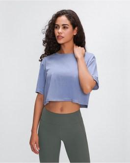 Light Cotton Running T-Shirt Crop Top