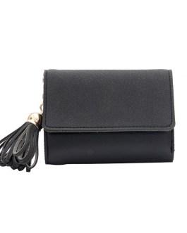 Multi-function Tassel Clutch Splicing Fashion Soft Square Wallet