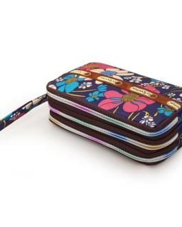 PU Leather Zipper Card Holder Long  Clutch Wallet