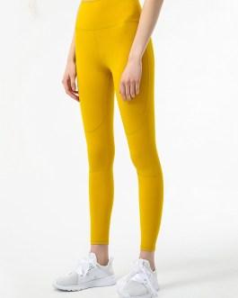 Running Pure Color High Waist Skinny Yoga Leggings