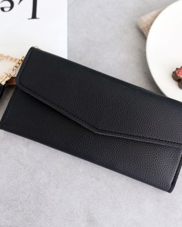 Solid tassel PU Leather Zipper New Fashion Long Wallets