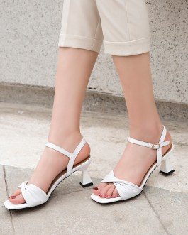 Strange Style Leather Pleated High Heels Party Shoes