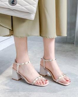 Transparent Office High Heels Sandals