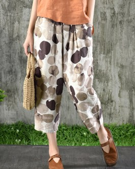 Casual Elastic Waist Side Pockets Harlan Pants