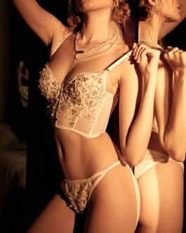 Sexy Adjustable Straps Embroidered Bra And Panty Sets