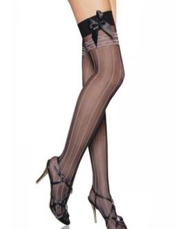 Stockings Bows Striped Nylon Sexy Lingerie