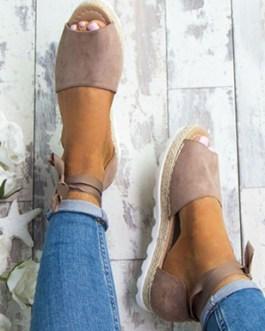 Ankle Strap Sandal – Hemp Bottom