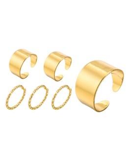 Band Set 6 Pcs Rings Jewelry