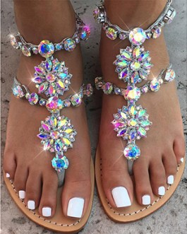 Floral Sandals – Toe Loop Style