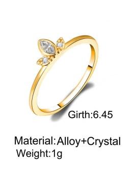Geometry Rhinestone Finger Rings Vintage Statement Jewelry Gifts