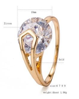 Gold Diamond Round Rings