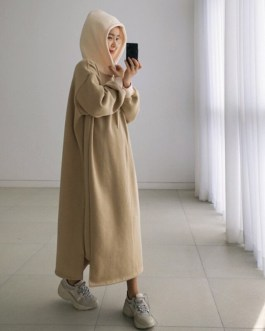 O-Neck Thicken Oversized Vestidos Long Warm Sweater Dress