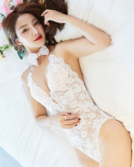Sexy Bunny Costume set Lace Cut Out Halloween