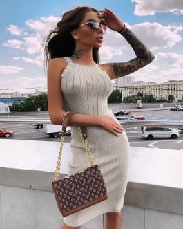 Sexy Halter Club Mini Bodycon Dress
