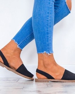 Slip-on Sandals with Open Toes and Heels