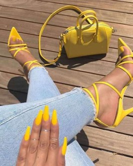 Strappy Stilettos – Pointed Toes
